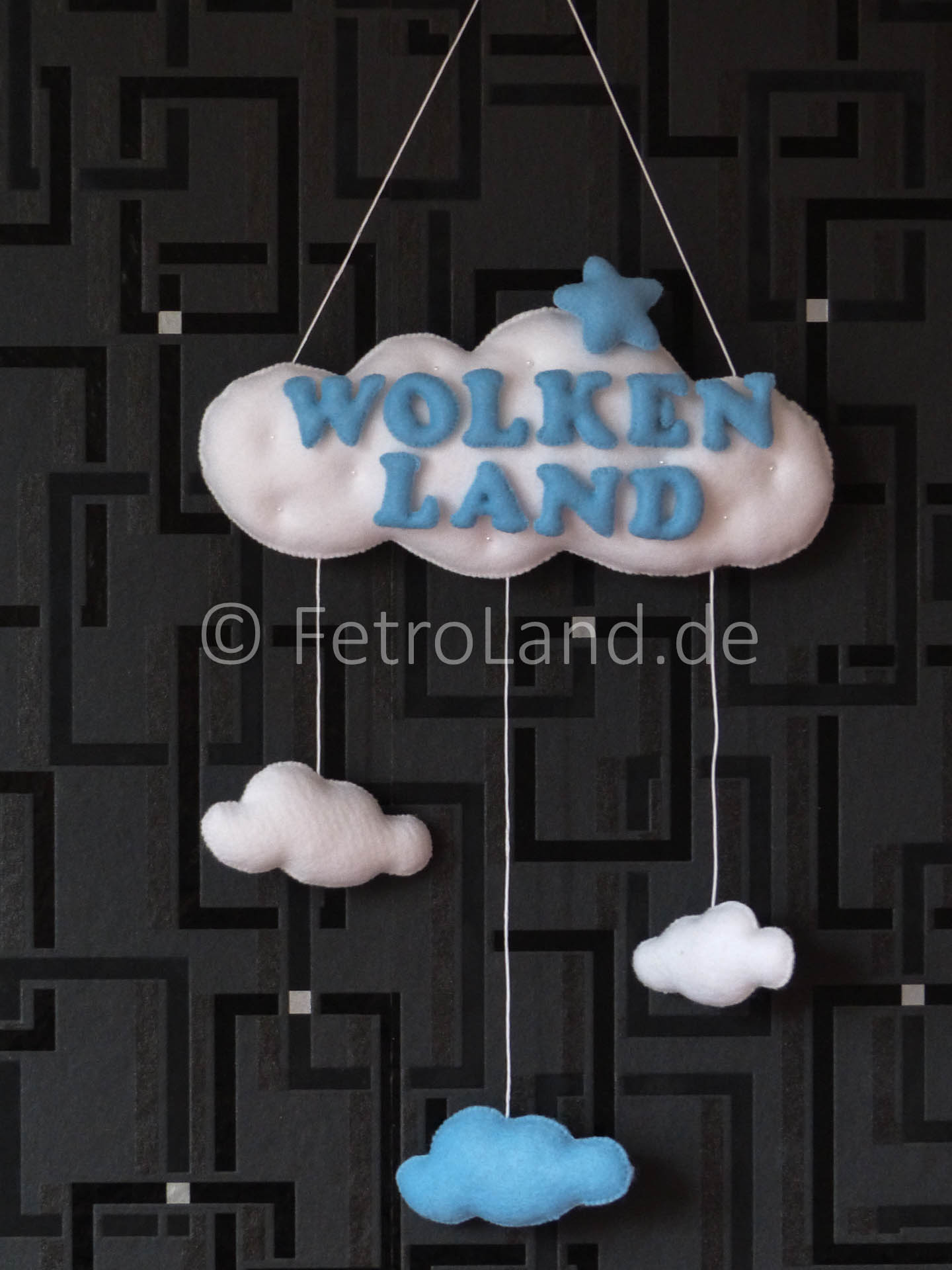 "Wanddekoration ""Wolke"""